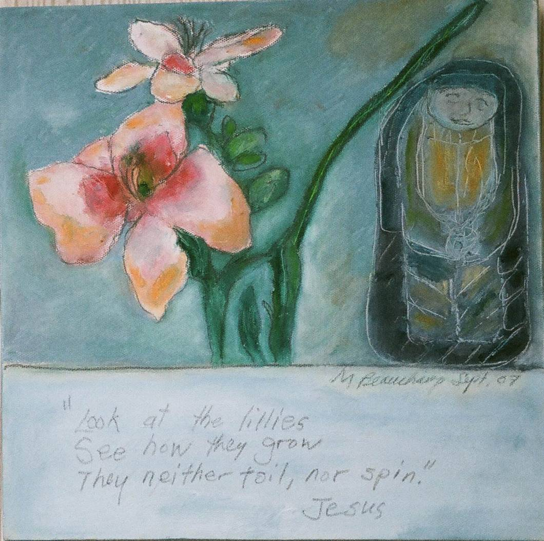 Lillies 12x12 Oil on Canvas